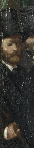 Détail de l'autoportrait de Manet